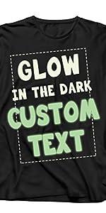 camiseta personalizada de manga larga que brilla en la oscuridad