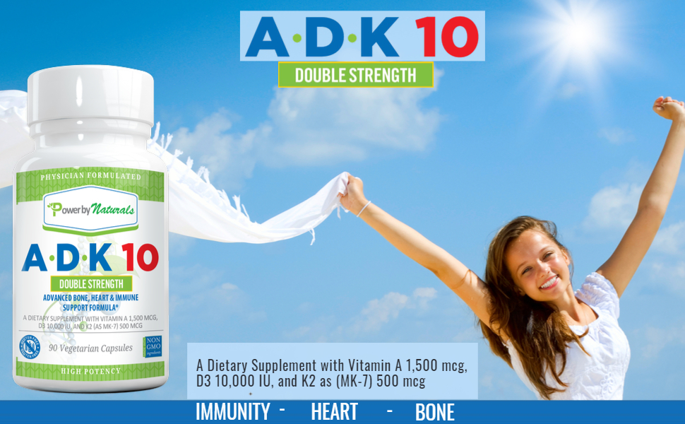 Vitamins A, D, and K for strong bones and healthy immune system.
