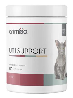 Animigo Soporte Urinario para Gatos | Ayuda al Tracto Urinario de Gatos | Suplemento Natural para Cuidado y Salud Urinaria | Ideal para Gatos Esterelizados | con Arándano y D-Manosa | 60