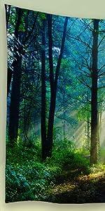 sunshine forest tapestry,morning forest tapestry,forest scene tapestry,forest landscape tapestry