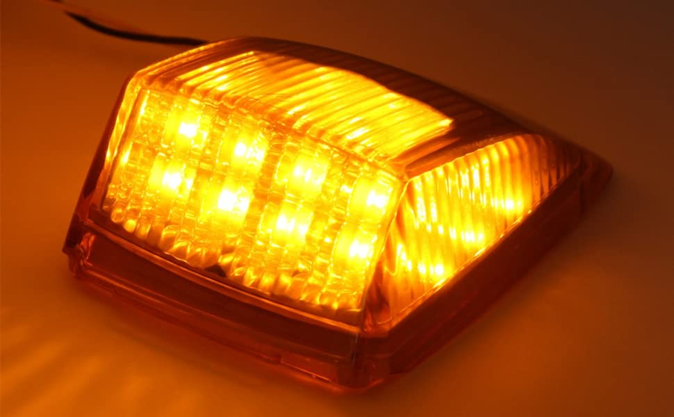 Hehemm Autodach Licht 17 Led Standlicht Hersteller Licht Tagfahrlicht Markierungsleuchten Oberes Dach Leuchte Dachkabine Seitenlichter Für Lkw Anhänger Kipper Sonderfahrzeug 2 StÜck Auto