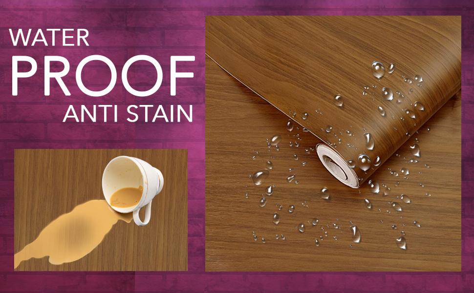 Wall Stickers Wood Wallpaper Waterproof, anti stain, DIY Shelf Liner, Furniture, Almirah, Wardrobe