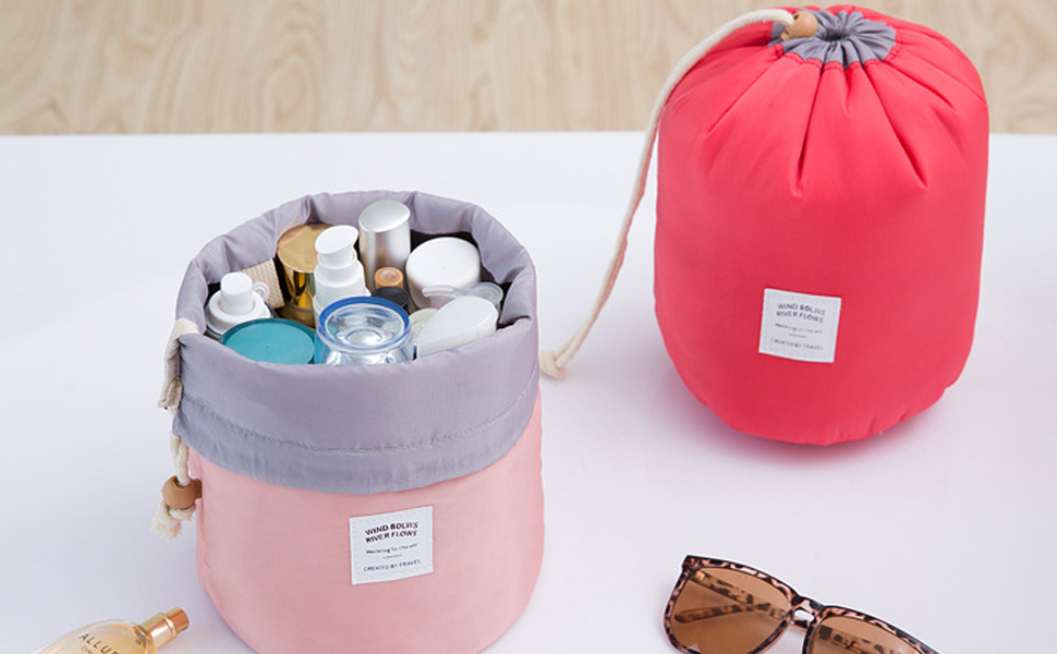 Travel makeup Bag Waterproof toiletry bag Makeup Organizer Cosmetic tool Bag Washroom Kit Drawstring