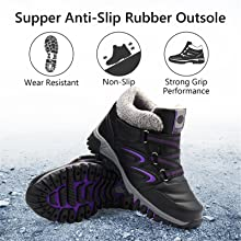 omens Winter Snow Boots Waterproof Anti-Slip Ankle Booties Outdoor Warm Fur Lined Shoes