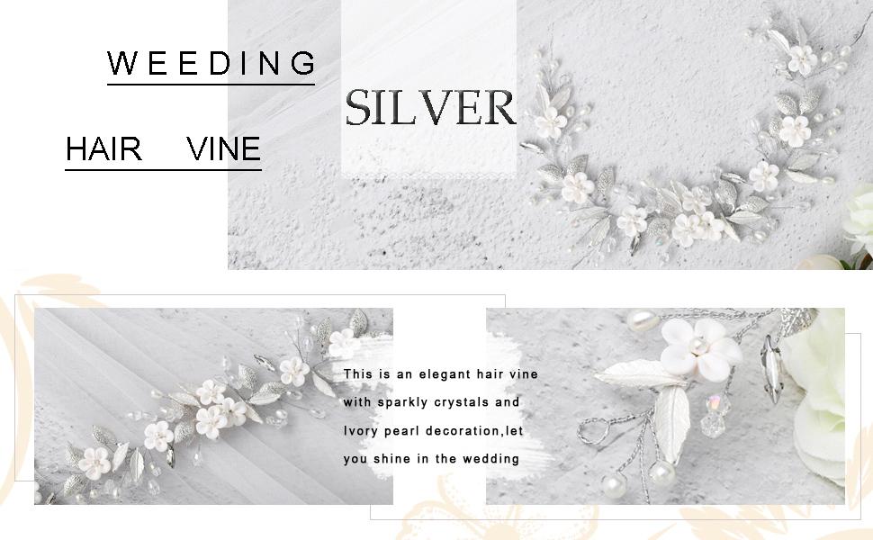 Wedding Crystal Hair vine Birde Rhinestone HairPiece Bridal Hair Accessories for Women and Girl