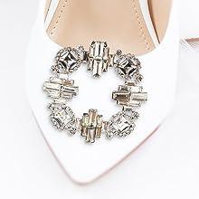 art deco baguette rhinestone crystal steve madden shoe clip clips square sparkle bridal wedding shoe
