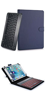 "Cooper Backlight Executive leather keyboard case with backlit keys for 9-10"" tablets"