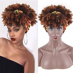 headband wig, wigs to headband, headband attached to wigs, wigs with headband attaed,