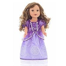 Sofia the First Costume Purple Princess doll Dress CLOTHES