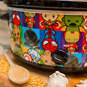 Marvel Uncanny Brands Slow Cooker 7qt