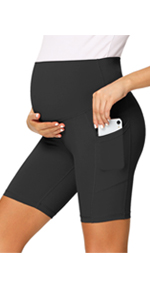 maternity workout leggings with pockets - 8 Inches