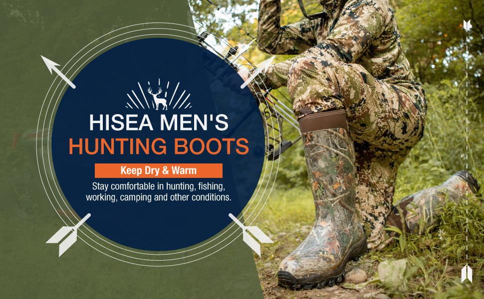 hisea hunting boots rain boots men