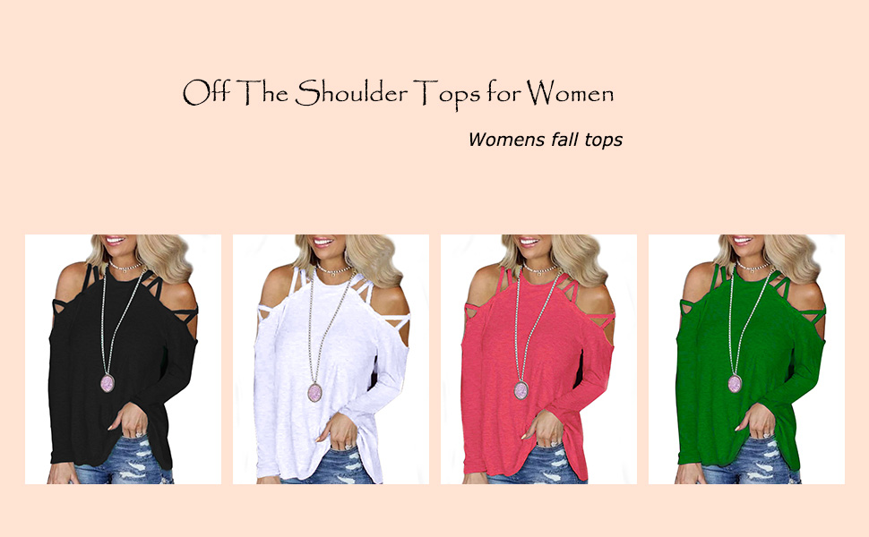 womens long sleeve tops off shoulder shirts cold shoulder blouses Women Sexy Shirt Tops