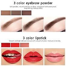 eyebrow and lip cream