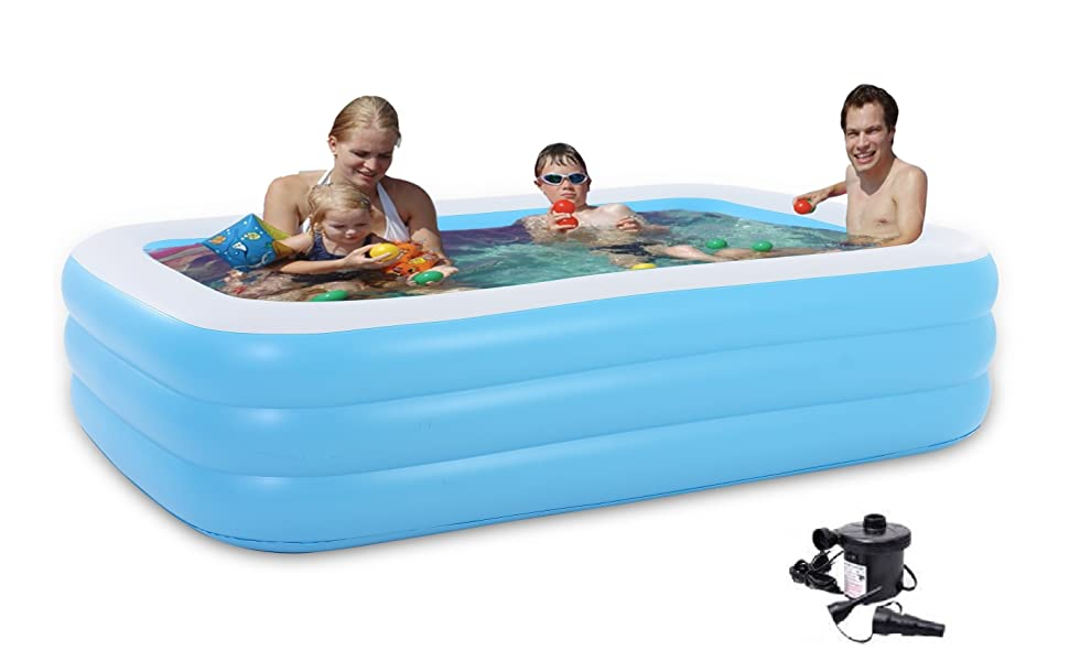 Cho-Cho  Inflatable Bath Tubs for Kids and Adults SPA Tub with Pump 6.5 Feet