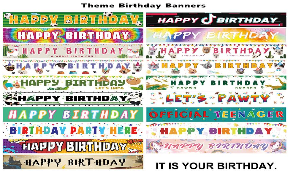 Theme Birthday Banners
