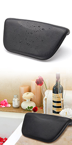 bath pillow black pu waterproof essort cheap bath pillow gift for mom easy to wash