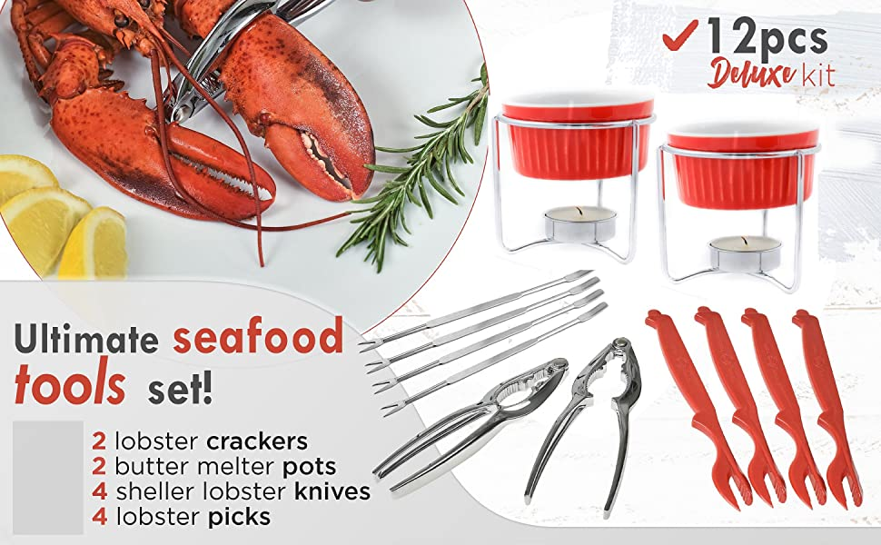 seafood tool kit, crab cracker, crab leg crackers, crab crackers and tools, leg cracking tools, best