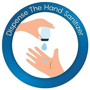 dispense the hand sanitizer
