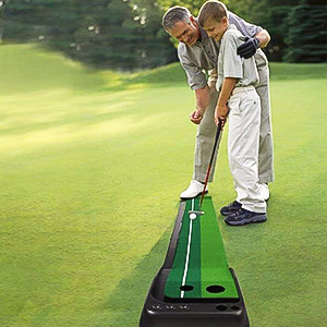 putting green with ball return