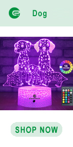 easuntec dog 3d led illusion lamp
