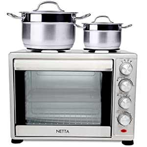 45l mini oven with hotplates