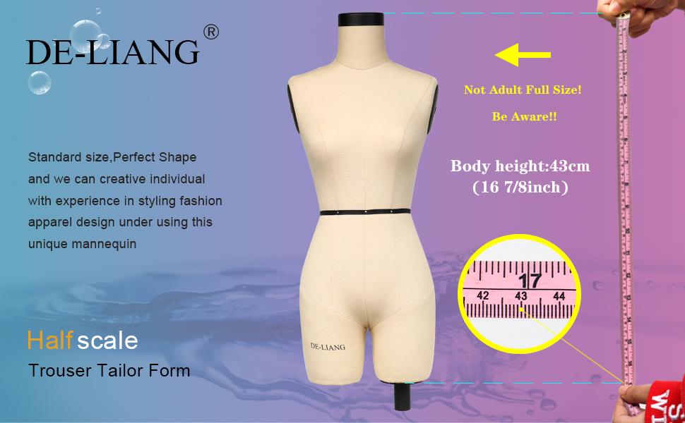Half scale dress form 1/2 miniature trouser dressmaker dress form sewing fitting mannequin