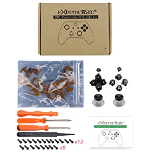 Multi-Colors D-pad Thumbsticks Start Action Buttons DTF LED Kit for Xbox One Standard S X Controller
