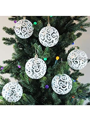 white ornaments for christmas tree