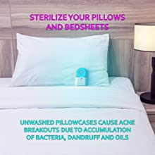 pillow, bed, sheet, bedsheet, uv, uvc, uv light, acne, acne, mechanica, sleep, antimicrobial