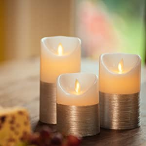 silver candles, white candles