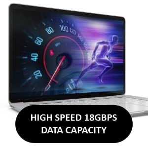 high speed 18 gbps data capacity