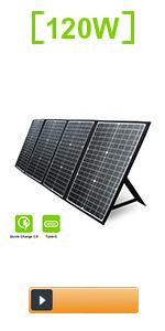 120W Foldable Solar Panel