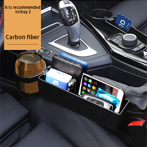 Key NEW RUICHENG Car Storage Box Multifunctional Cup Holder Car Seat Gap Organizer Side Pockets Box Slot Car Gap Filler with USB Charging Central Console Driver Extra Storage 2Pcs for Cellphones