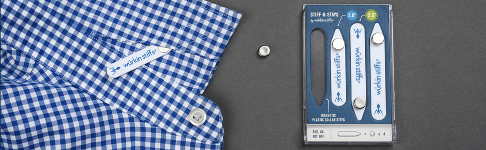 wurkin stiffs collar stays plastic collar stays and collar stay magnets on mens dress shirt