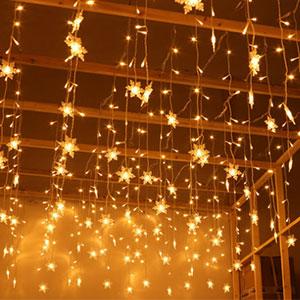 Cortina de Luces, Luz Cadena, Luz de Cortina, LED Guirnaldas ...