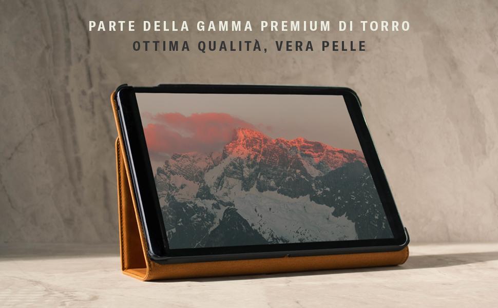 Vera Pelle Morbida Nero /& Marrone Chiaro Smart Case Stand Cover per Apple iPad NUOVO 2017