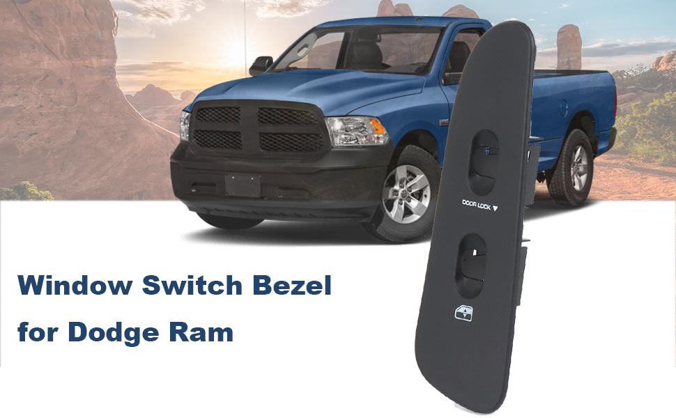 Gray Bezel Assembly for 2002-2009 Dodge Ram SWITCHDOCTOR Window Master Switch /& Medium Slate