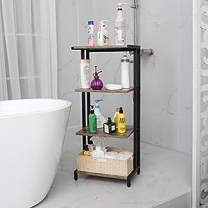 4 tier bathroom standing shelf