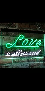 ADVPRO LED Neon sign light-ing Dual-color Love Lovers Valentines heart sweet Love is all you need