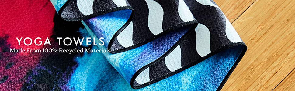 yoga towels, yoga, sustainable, towels, fitness towels, active, waffle grip, grippy towel