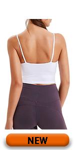 white sports bras for women