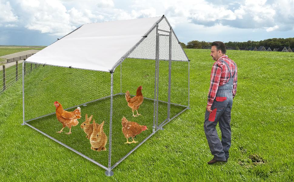 Large Metal Chicken coop