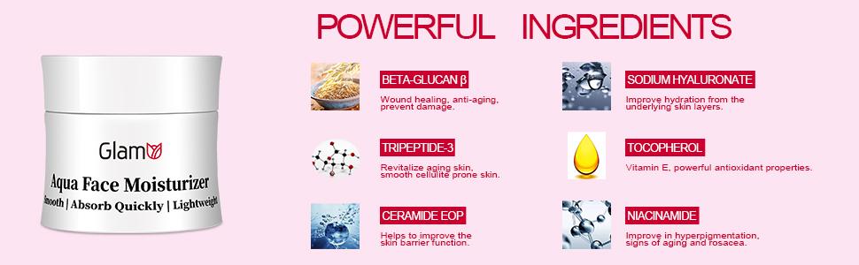 GlamU Face Moisturizer: Powerful Ingredients