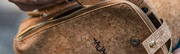 MAJAJANtA/® Mai G Tasche aus Kork Leder Festival Crossbodybag Schultertasche Vegan Alternative Umh/ängetasche CORKSHAKE