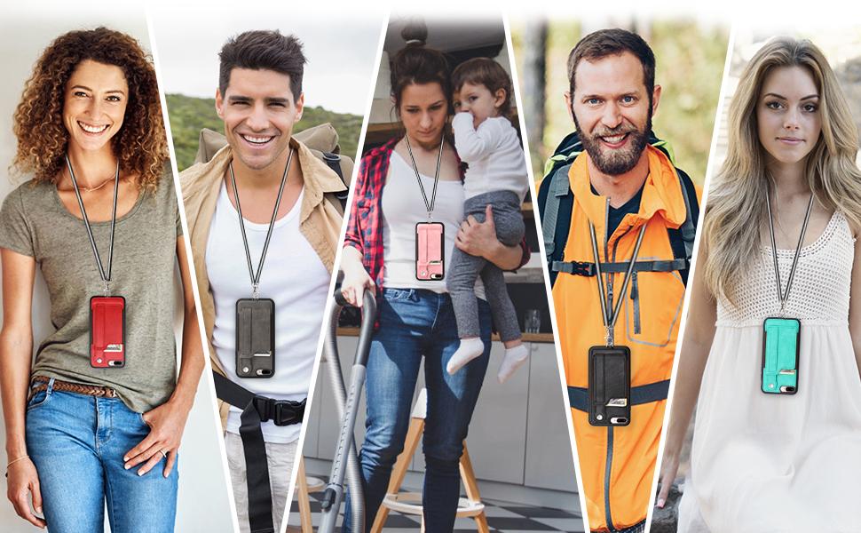 iphone 7 plus 8 plus wallet case for men women