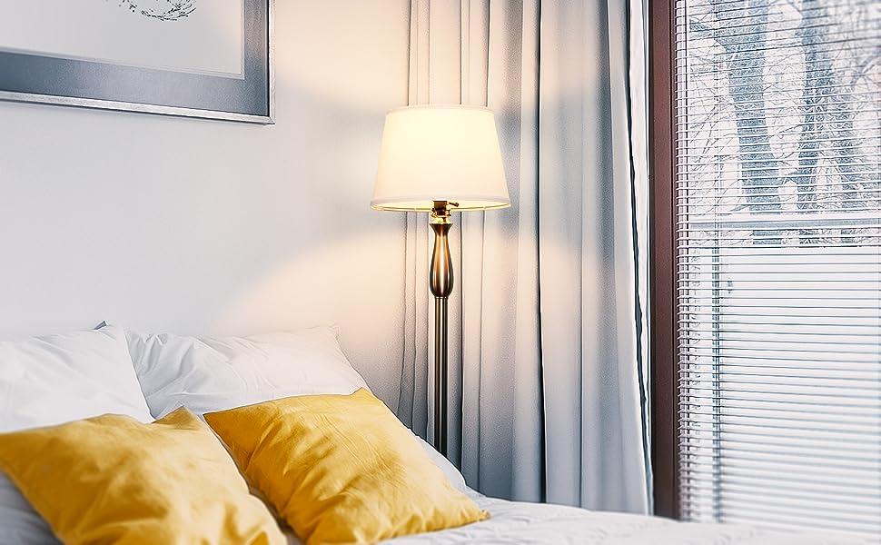 Brightech Gabriella LED Floor Lamp - Free Standing Elegant Style