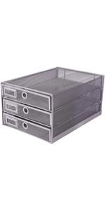 Exerz Paper Sorter 3 Drawer Wire Mesh A4 / Desk Multifunctional Desk Organiser/Multi-layer Letter