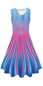 Rain Stripe Mermaid Dress