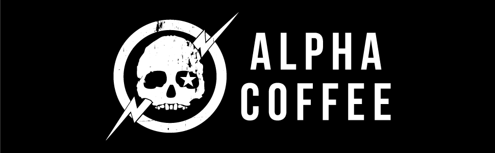 Alpha Coffee Logo, Veteran Owned, Family Owned, Coffee for Troops, Premium Coffee, Military Coffee